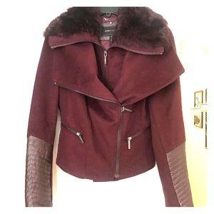 BCBGMAXAZRIA Burgundy Wool Jacket